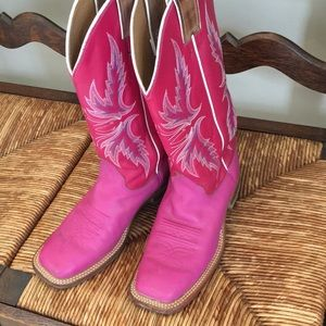 Justin Albany Pink 13 inch Bent rail cowboy boot